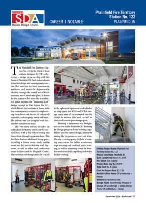 Firehouse Design Awards article