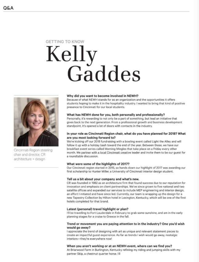 Kelly Gaddes NEWH Article Spring 2018