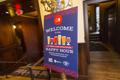 Event Signage for 10th Annual Client Happy Hour
