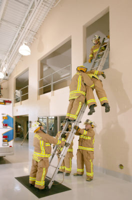 Ladder Training, Greendale Fire Headquarters