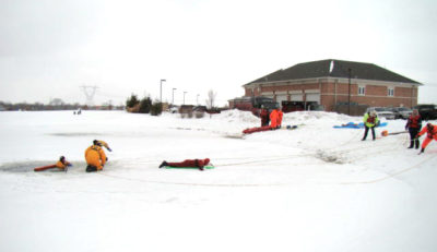 Ice Rescue Training, Orange Township